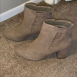 Just fab tan booties, never worn